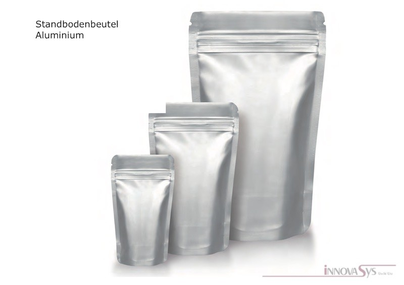 STANDBODENBEUTEL Aluminium 85x140