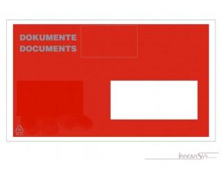 Dokumenten- Lieferschein- tasche Fenster rechts C5 240x170