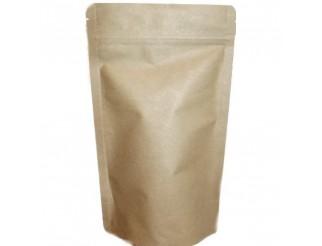 Doypack Kraftpapier ohne Fenster 85 x 140mm