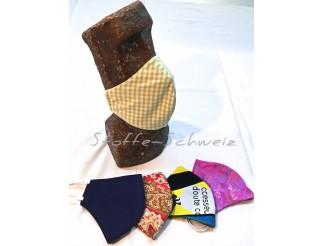 1a Mundschutz Hygiene Maske 100% Baumwolle indiv. Farben mit Gummi
