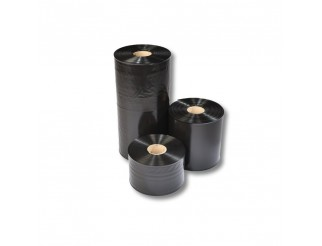 Schlauchfolie schwarz 100 mm breit 100 my Stärke 250m unbedruckt