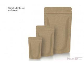 STANDBODENBEUTEL Kraftpapier m. Aromaventil 140x270